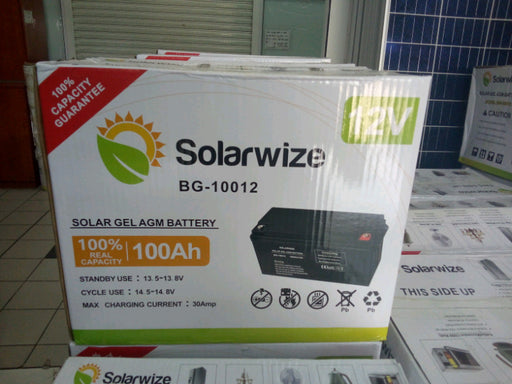 Solarwize 100Ah Solar Gel Battery