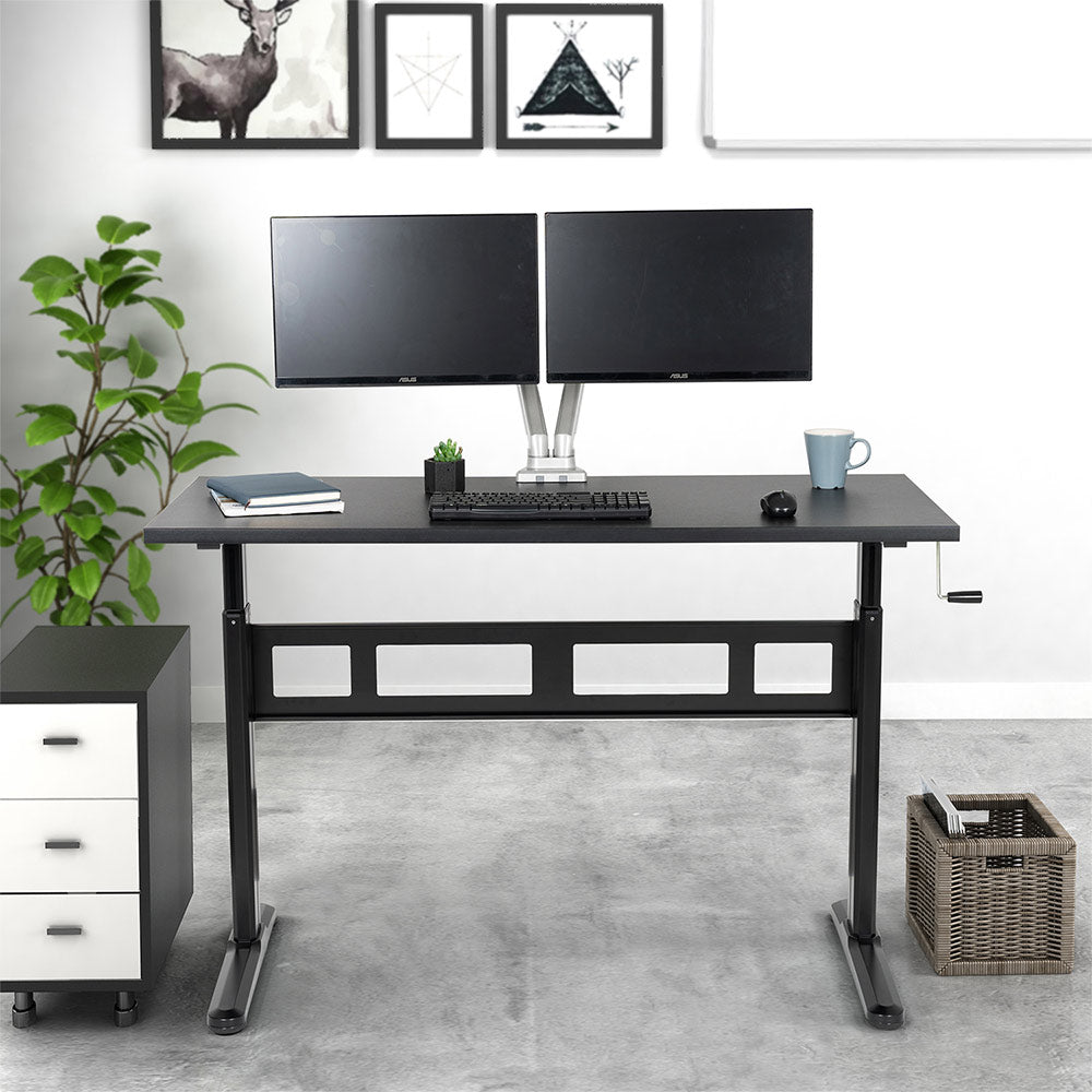 EleTab Manual Standing Desk ELTBAD-04 [Desktop Included]