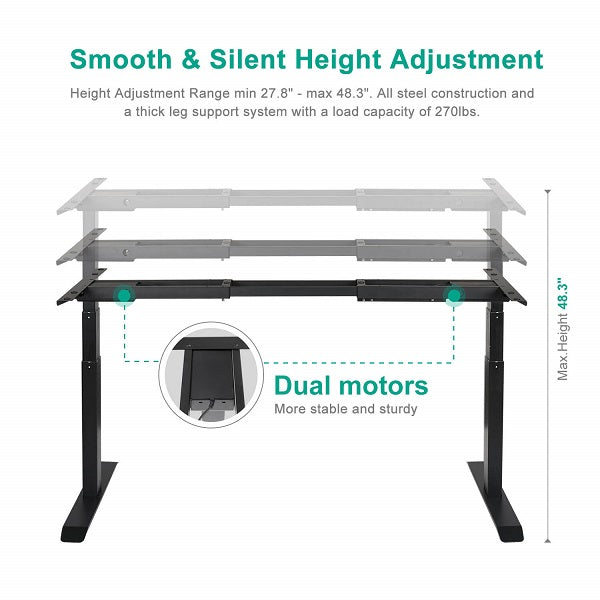 Stand up Desk Frame | Specs1