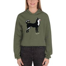 Load image into Gallery viewer, Crop Hoodie - Pawprints Collection - Classic Dog