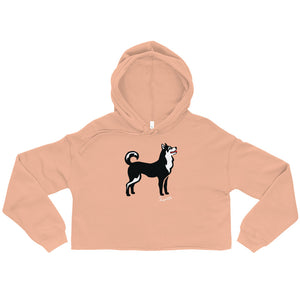 Crop Hoodie - Pawprints Collection - Classic Dog