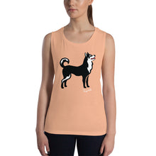 Load image into Gallery viewer, Ladies' Muscle Tank - Pawprints Collection - Classic Dog