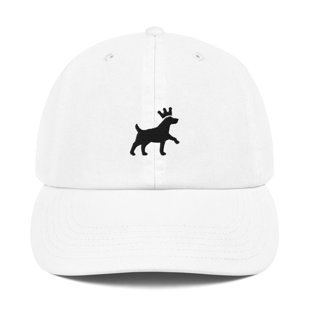 Champion Dad Cap - Pawprints Collection - Embroidered Dog & Crown