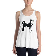Load image into Gallery viewer, Women's Flowy Racerback Tank - Pawprints Collection - Classic Dog