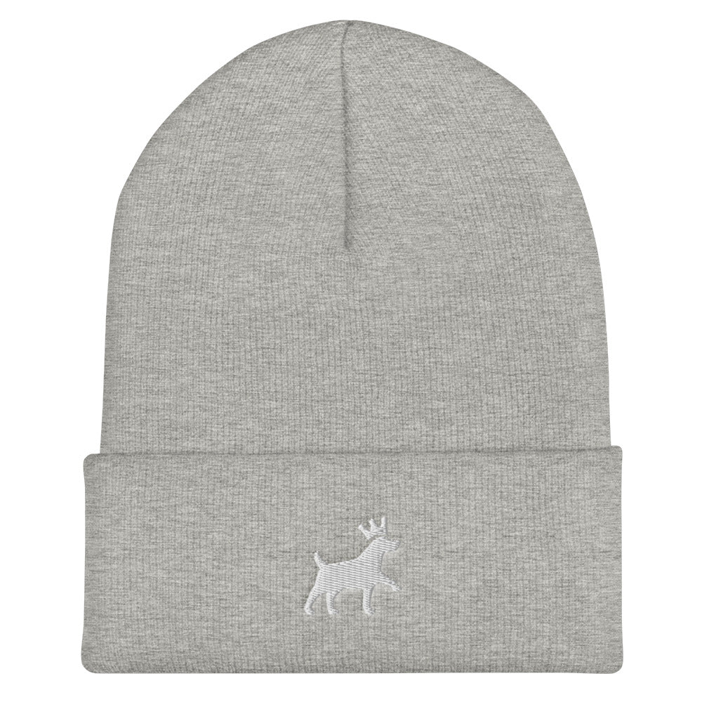 Cuffed Beanie - Pawprints Collection - Embroidered Dog & Crown