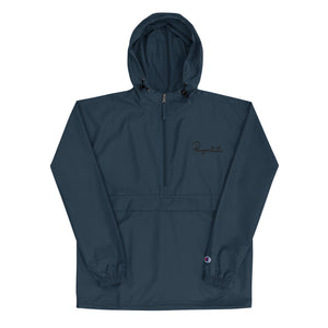 Embroidered Champion Packable Jacket - Champion x Pawprints Collection - Black Embroidery