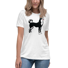 Load image into Gallery viewer, Women's Relaxed T-Shirt - Classic Dog - Pawprints Collection