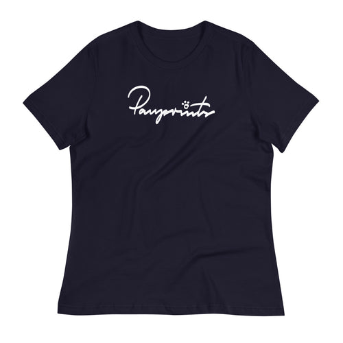 Women's Relaxed Tee - Pawprints Signature
