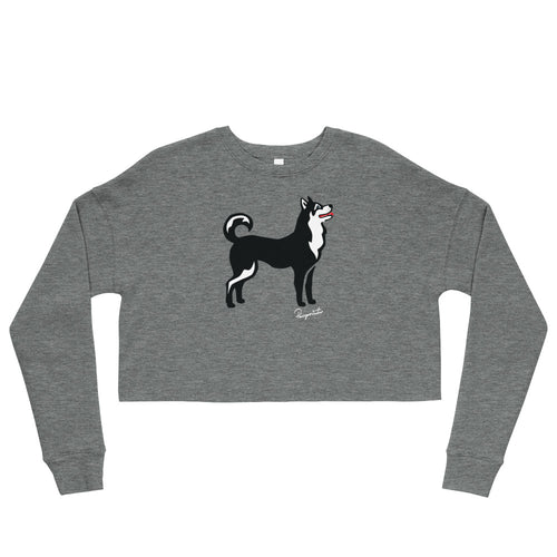 Crop Sweatshirt - Pawprints Collection - Classic Dog