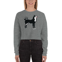 Load image into Gallery viewer, Crop Sweatshirt - Pawprints Collection - Classic Dog