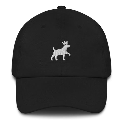 Classic Dad Hat - Pawprints Collection - Embroidered Dog & Crown