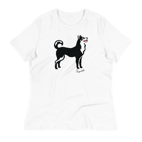 Women's Relaxed T-Shirt - Classic Dog - Pawprints Collection