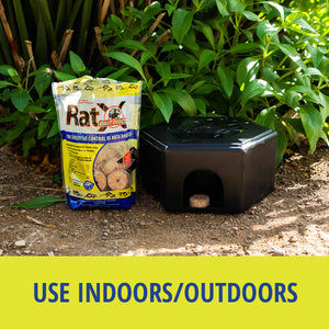 RatX® Large Bait Station can be used indoors or outdoors.