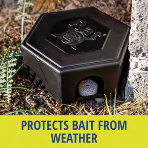 RatX® Small Bait Box protects bait from weather