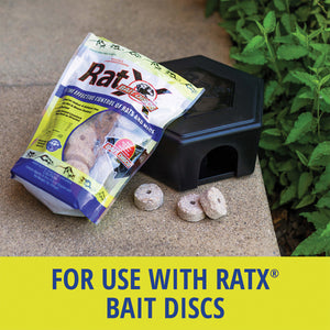 Use RatX® Small Bait Box with RatX® Bait Discs