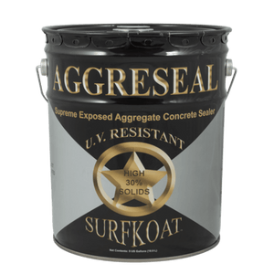 SurfKoat Aggreseal Supreme Concrete Sealer, 30% Solids, 5 gallons (Clear, Brown, or Gray)