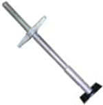 Scaffolding Screw Jack with Base Plate, Galvanized, 24