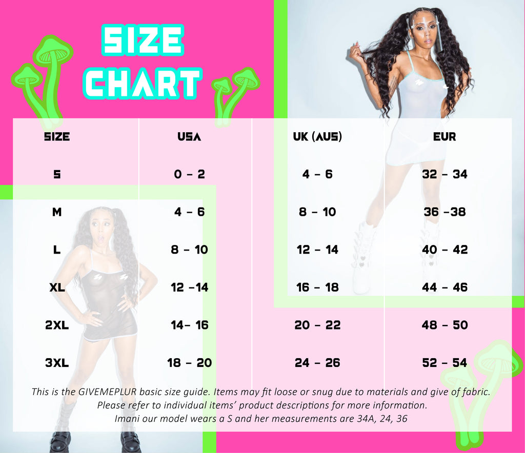 GIVEMEPLUR Size Chart