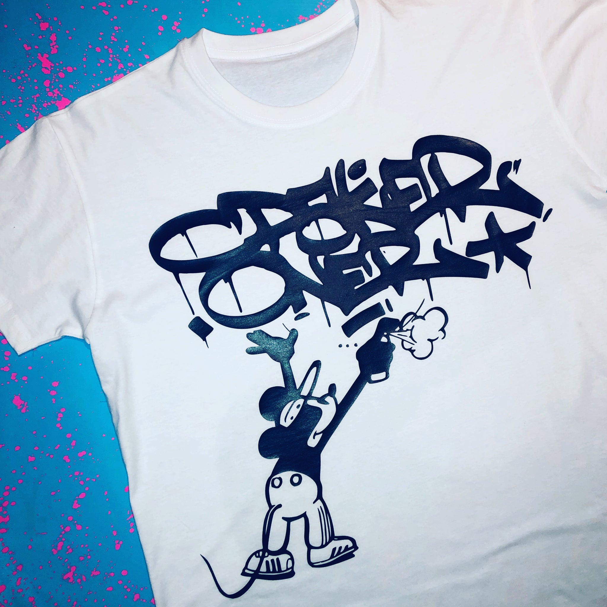 customers first high quality materials release info on Get Up Mouse Custom Graffiti T-Shirt