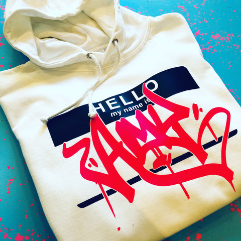 Adult's Custom Hello My Name Is Hoodie