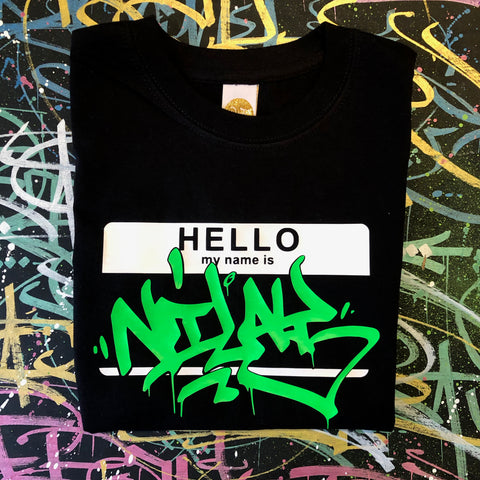 Kid's Hello My Name Is Custom T-Shirt