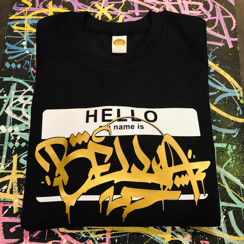 Kid's Hello My Name Is Custom Sweatshirt