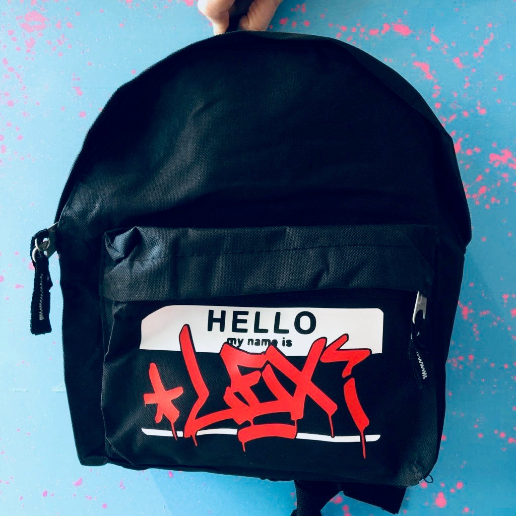 Kids Personalised Hello My Name Is Backpack