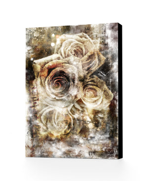 Urban Roses, Hand Embellished Canvas