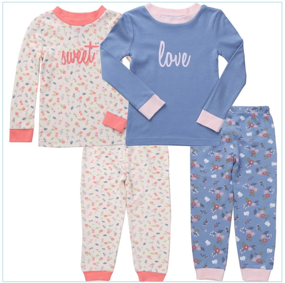 Girls' 4pc PJ set