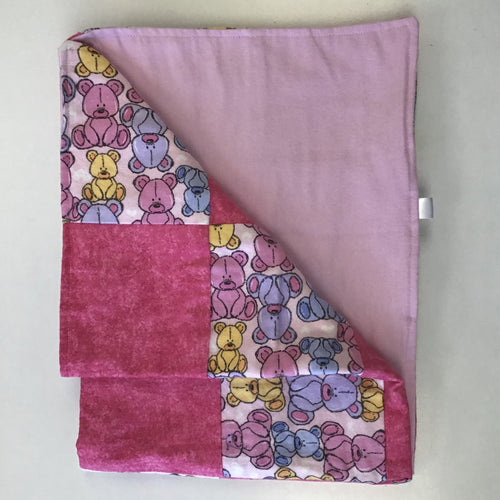 Pink Teddy Baby Blanket