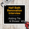 A DIYer Adds a Shower to a Half Bath