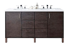 Double Vanity Cabinets with Tops