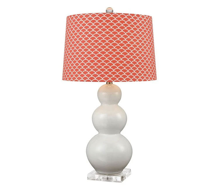 Elk Lifestyle Ava Table Lamp with Coral Shade