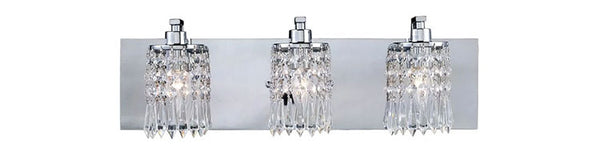 Chrome and Crystal Vanity Lights