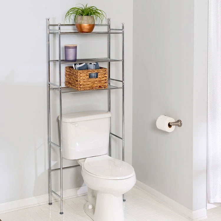 Over the toilet shelves