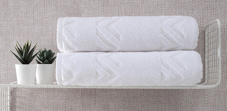 Refresh your bath with new towels and accessories.