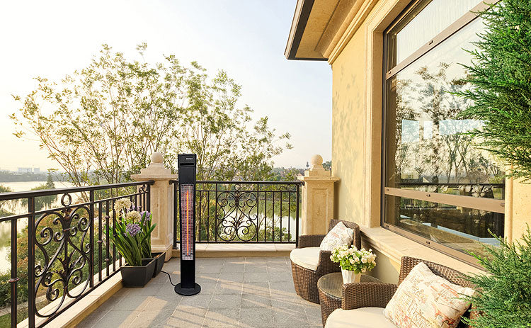 Extend patio season with an infrared heater.