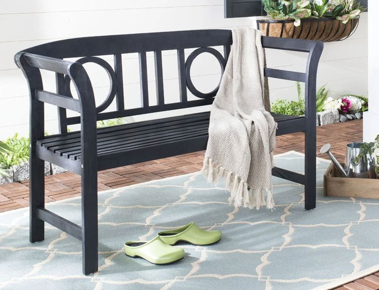 Accessorize your outdoor space with outdoor pillows, throws, and area rugs.