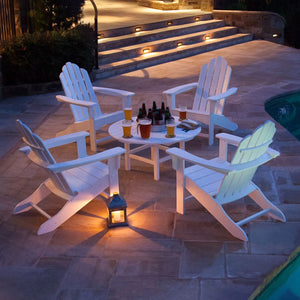 ADCHATSET5PCWH Outdoor/Patio Furniture/Patio Conversation Sets