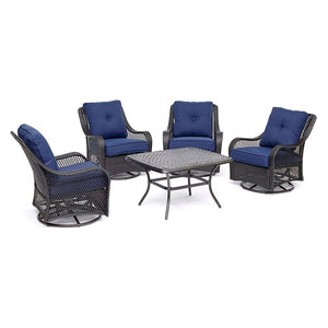 ORL5PCCTSW4-NVY Outdoor/Patio Furniture/Patio Conversation Sets