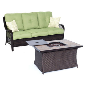 ORLEANS2PCFP-GRN-B Outdoor/Patio Furniture/Patio Conversation Sets