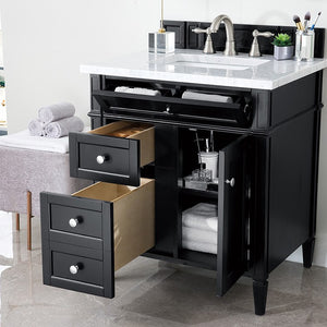 650-V30-BKO-3AF Bathroom/Vanities/Single Vanity Cabinets with Tops