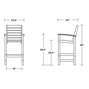 1912-BL Outdoor/Grill & Patio/Patio Seating
