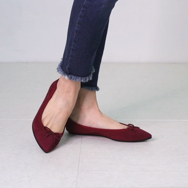 Mathilde -Suede bordeaux スエード ボルドー