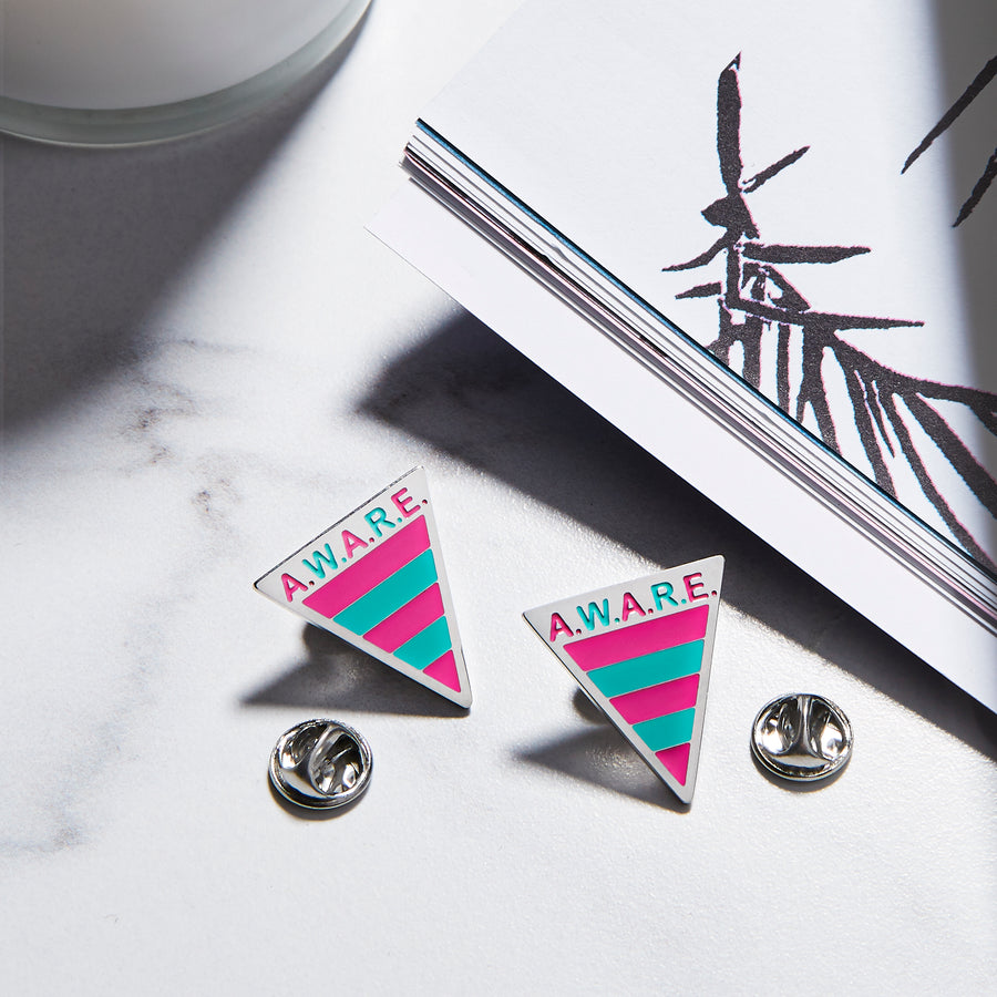 Pink and Teal Aware Pins