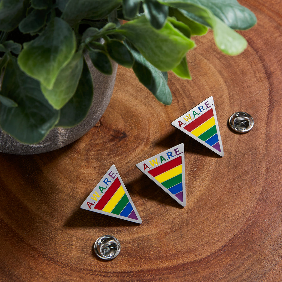 Rainbow AWARE Pins