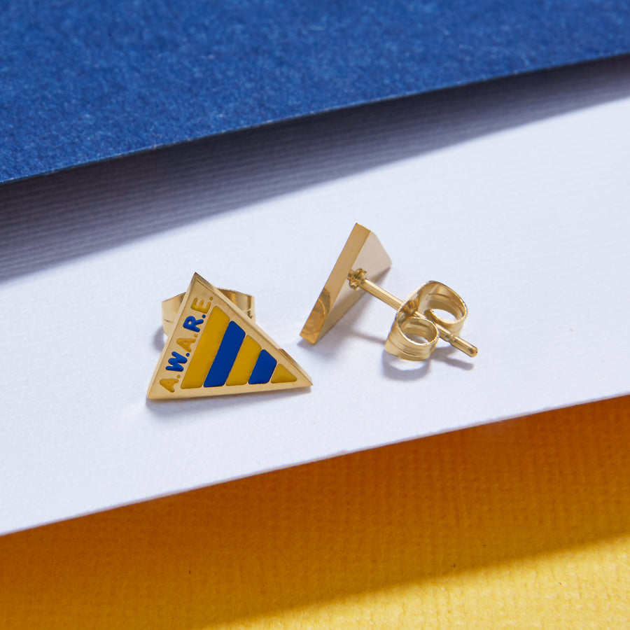 Yellow and Blue AWARE Earrings