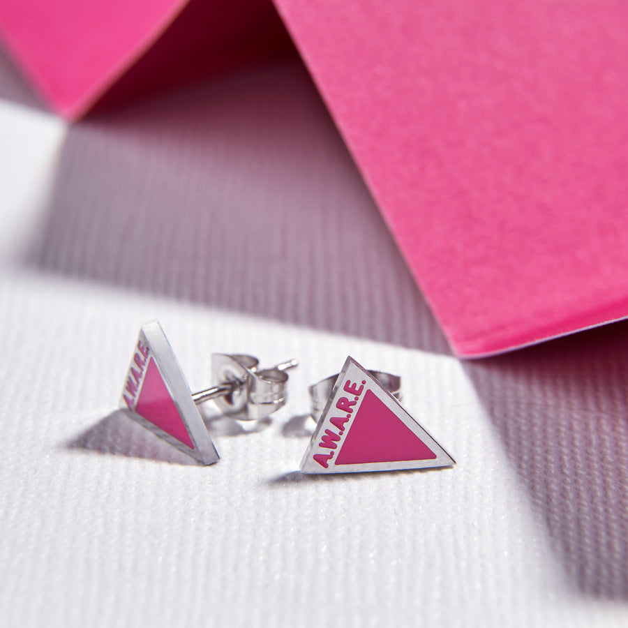 Pink Aware Earrings