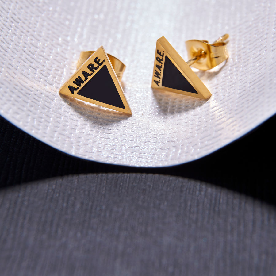 Black AWARE Earrings