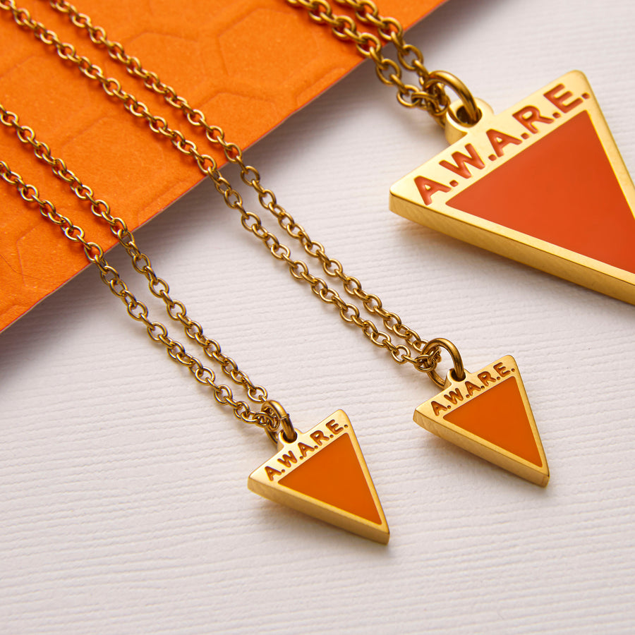 Dainty Orange AWARE Necklaces
